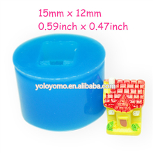 FYL181 3D Small House Fondant Cupcake Topper Gum Paste Resin Soap Tallow Miniature Food Soap Push Mold