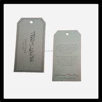 2015 High quality customised Embossed tags,high-end garment tag printing,blank garment tag /tag label/price tag