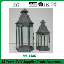 Fashionable design metal lantern candle holders ML-1386 set of 2
