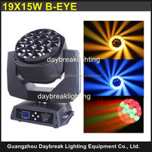 RGBW Wash Light Bee Eye LED Moving Head Lights, rotating bee eye led stage light, LED moving head 19*15w rgbw 4in1 Bee Eye light