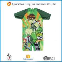 Cartoon kids swimming suits Kids shiny swimwear One piece kids surfing suit