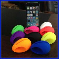 Silicone egg shaped mini sound amplifier/speaker/mini music egg speaker for iphone6