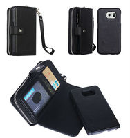 Detachable wallet leather case for Samsung galaxy S5 i9500