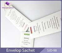 Natural room diffuser paper envelope air freshener sachet
