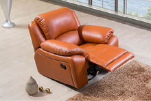 Contemporary design sitting room relaxing real leather recliner chair mechanism SF3641#