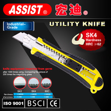 fashionable practical safety OEM utility knife blade with cutter 18mm SK4 cut blade knife