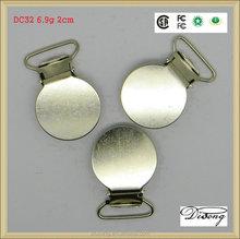 Fabricante de ferro de metal rodada suspender clipes para calças