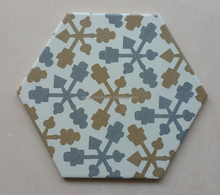 Decorative porcelain hexagonal living room tiles