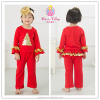 Wholesale toddler school sets 2015 new fashion baby girl outfit