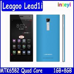 """New arrival 5.5"""" Leagoo lead1i Lead 1i 13MP Camera Smartphone MT6582 Quad core 1GB/8GB Android 4.4 Russian Language Mobile Phone"""