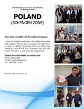 POLAND: SCHENGEN VISA, UNIVERISTY ACCEPTENCE LETTERS, WORK PERMITS