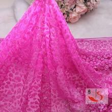 China manufacturer wedding dress net fabric sequin african swiss lace fabric