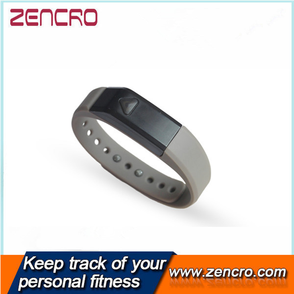 2015 promotional wearable band oeld display silicone plastic sports