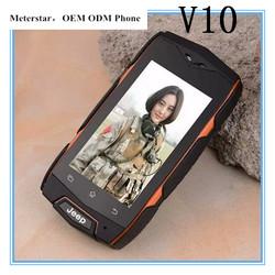 NEW V10 2.4 inch MINI Smart Phone Android 4.3 MTK6572 cell phones Waterproof Dustproof Shockproof 2 SIM WIFI 3G Phones