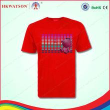 custom led t-shirt led scrolling message t-shirts led s'allume t-shirts