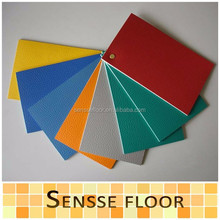 PVC spong flooring rolls 1.0mm to 2.0mm comfortable feeling