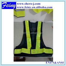 EN471 wholesale good quality black mesh flashing led safety