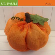 beautiful table top mesh fabric pumpkin thanksgiving office decorations