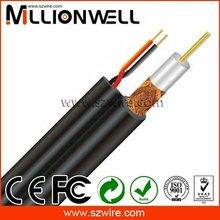 rg59 con 2c potencia de circuito cerrado de televisión por cable coaxial rg cable de comunicación
