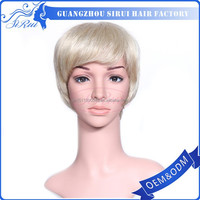 Factory price heat resistant kanekalon synthetic hair wig japanese, short cut fashion noble synthetic weave beijing hair wig