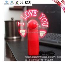 LED Handle Fan With Some Words