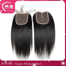 China hair products factory supply low price high quality natural brazilian hair top closure hair pieces
