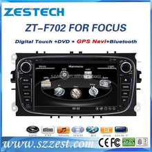 ZESTECH car dvd for ford focus 2008-2011 car dvd player audio navigation with digital TV touch screen