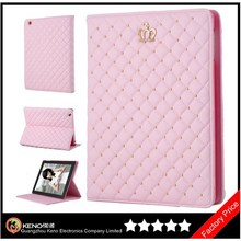 Keno Quilted Folio Tablet Protective Case for iPad Air with Stand, Bling Diamond Case for Tablets