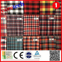 Popular Hot sale cotton check shirt fabric factory