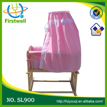 Hottest quality goods wooden baby bed baby swing crib