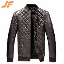 Newest fashion design slim fit men pu leather jacket/men leather coat