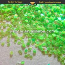 Rainbow Green Glitter Flakes