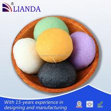 Wholesale hearted shaped natural konjac sponge,natural wholesale konjac sponge ecofriendly,colorful beauty konjac sponge