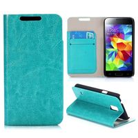Crazy Horse Texture Wallet Flip Magnetic Leather Case for Samsung Galaxy S5 Mini G800