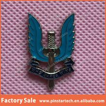 blue custom souvenirs who dares wins qibla direction gift metal poppy emblem