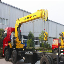 2015 top exported SQ14SA4 14ton telescopic arm/boom deck hoist crane with truck