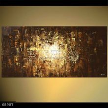 Handmade new abstract contemporary art Oil painting on canvas, brown textured art,VISION
