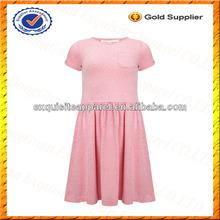 La costumbre de algodón poli mezcla de los niños niñas t camisa de vestir/niños vestido de algodón al por mayor