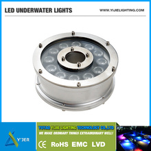 YJS-0005 IP68 PF0.9 RGB high power 12W round led underwater POOL lights landscape lamps