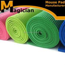 muti-color unique yoga mat top side ribbed
