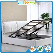 PU PVC LEATHER FABRIC IKEA DOUBLE MODERN HOME FURNITURE GAS LIFT SOFT STORAGE SPACE SAVING BEDS