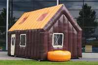 outdoor christmas decorations inflatable ski cabin