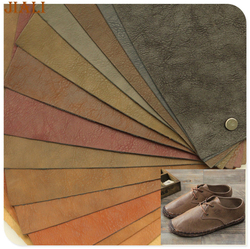 New fashion wenter shoes material double color embossed pu imitation leather