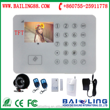 Hot selling GSM alarm Android App GSM home security system with TFT color