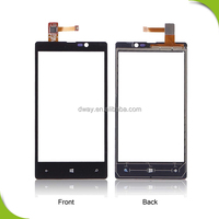 Oem new for Nokia Lumia 820 touch screen digitizer with front cover panel replacement