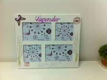 Lanvender Wooden Photo frame with Four Windows