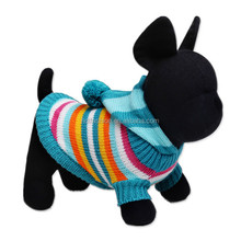Pet clothing knitted sweater pattern fashion hooded dog clothes bulk