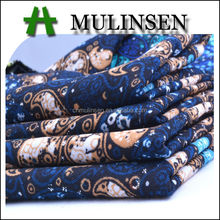 Mulinsen Textile Popular Design Printed Cheap Polyester 50D Wool Peach Jersey Nepal Fabric