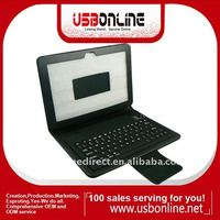7500/7510 10.1 inch leather case with bluetooth keyboard for Tablet PC