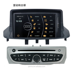 PENHUI Special Car DVD GPS Player for Renault Megane III/Fluence 2009-2015 Support Radio+Visuc 8 disc+PIP+ATV Car video car dvd